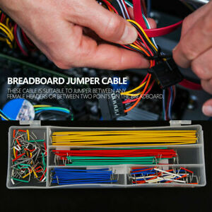 140pc box U Shape Solderless Breadboard Jumper Cable Electric Wire Diy Shield Zg