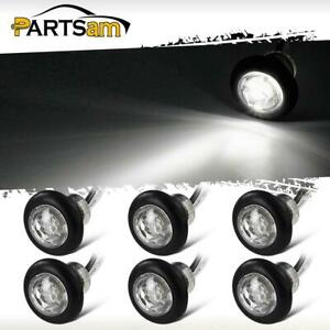 6x 3 4in Side Marker Combination Clearance Light Led Clear White Trailer Lights