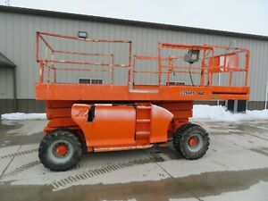 2004 Jlg 3394rt 33 4wd Gas Rough Terrain Scissor Lift Man Iowa
