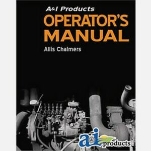Allis Chalmers Operator Manual Ac o ts 160