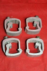4 Heavy Duty Aluminum Pickup Truck Topper Cap Camper Shell Mounting Clamps Set