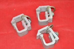 Lot 3 Heavy Duty Aluminum Pickup Truck Topper Cap Camper Shell Mounting Clamps