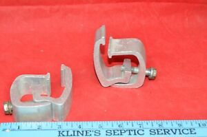 Lot 2 Heavy Duty Aluminum Pickup Truck Topper Cap Camper Shell Mounting Clamps