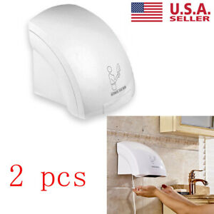 2pcs Air Hand Dryer Electric Automatic Infared Sensor Commercial Bathroom Hotel