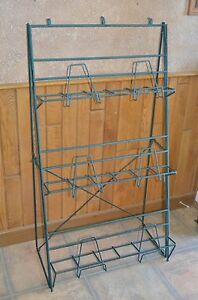 3 Tier Wire Floor Display Rack Stand Books Magazines Heavy duty Collapsible