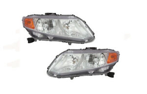 Depo 317 1162p as1 Driver And Passenger Side Headlight For 2012 Honda Civic