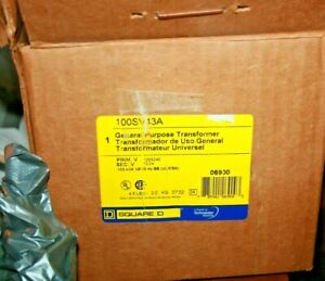 Square D 06900 1 Kva Buck Boost Transformer 100sv43a New Old Stock