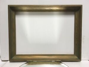Vtg Arts And Crafts Mid Century Oak Picture Frame Fits 13 X 18