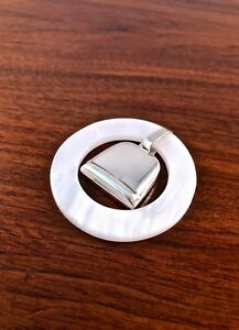 Modern American Sterling Silver Baby Teething Ring Rattle Not Suitable For Use