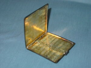 925 Sterling Silver Antique Cigarette Or Vesta Case 77 4g