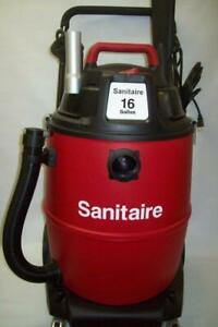 Wet Dry Shop Vacuum Sanitaire Industrial 16 Gal Vac On Wheels Sc6065a New In Box