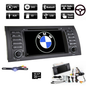 For Bmw E53 X5 E39 Car Stereo Dvd Player 7 Radio Gps Navi Bluetooth 1080p Cam D
