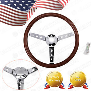 15 Universal Classic Wood Steering Wheel 380mm New