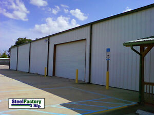 Steel Factory Mfg 60x125x16 Prefab Auto Repair Commercial Truck Storage Building