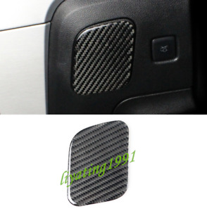 Real Carbon Fiber Left Storage Box Decor Cover Trim For Ford Mustang 2015 2019