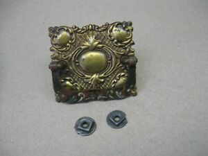 Antique 1892 Singer Treadle Sewing Machine Ornate Brass Drawer Pull