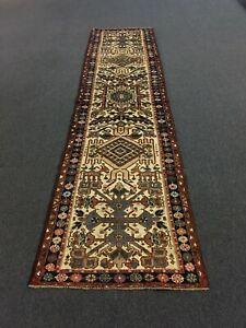 On Sale Antique Hand Knotted Persian Geometric Rug Runner Carpet 2x10 2 6 X10 3