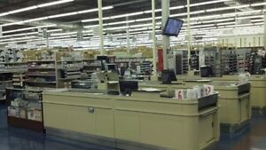 Lyons Motorized Checkout Counter And Bagging Station Price Reduced