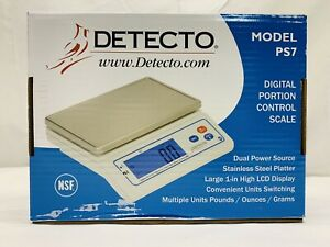 Detecto Ps7 Ps 7 Portion Control Digital Weight Scale Brand New