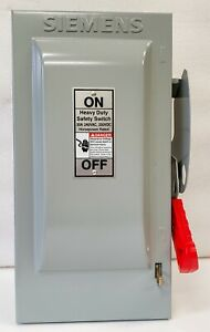 Siemens Hf321n 30 Amp 240v Fusible Heavy Duty Safety Switch Disconnect New