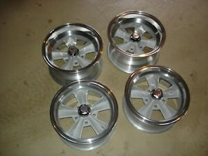 Vintage American Racing T 70 Wheels Rims Restored 5 On 4 3 4 Chevrolet Gm Rare
