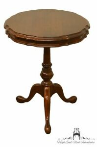 Gordon S Furniture Solid Cherry English Revival Pie Crust Accent Table