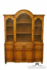 Rway Furniture Country French Regency Secretary Desk W Illuminated Display H