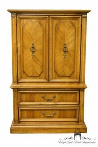 Stanley Furniture Italian Neoclassical Tuscan Style 38 Door Chest Armoire