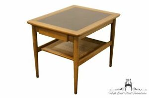 American Of Martinsville 22 Mid Century Modern Cane Tiered End Table