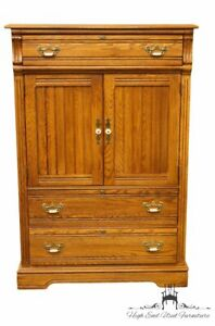 Dixie Country French Solid Oak 40 Door Chest 468 309