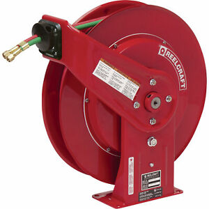 Reelcraft Tw Series Spring rewind Twin line Oxyacetylene Hose Reel With 60 Hose