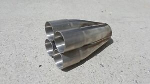 1 63 Inlet 4 1 Exhaust Header Merge Collector Component 304 Stainless 1 5 8