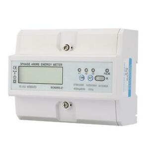 New Energy Consumption Digital Electric Power Meter 3 Phase Kwh Meter With Lcd