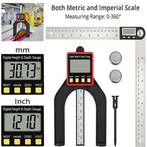 Digital Angle Finder Rule 8 Inch Stainless Steel Protractor digital Height Gauge