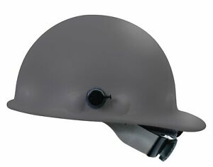Fibre metal P2aqsw Swingstrap Cap Style Gray Hard Hat W Quick lok Suspension