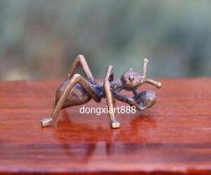 5 Cm Chinese Pure Copper Bronze Handwork Life Like Insect Ant Art Sculpture