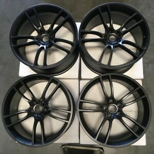 20x10 20x11 Gt Style Fit Ford Mustang 5x114 3 35 50 Matte Black Wheels Set 4