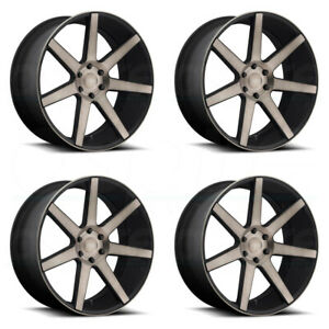 24x10 Dub Future S127 6x5 5 6x139 7 30 Black Machined Wheels Rims Set 4