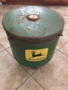 John Deere Planter Seed Corn Box Vintage Repurposed Farm Machinery Antique Old