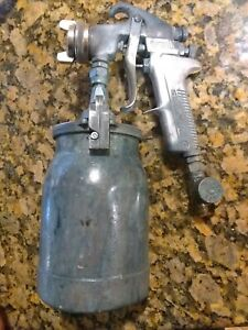 Snap On Spray Gun Canister With Devilbiss Jga 502 Spray Gun An 80 Devilbiss Tip