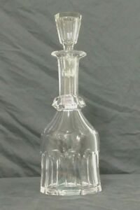 Victorian Facet Cut Crystal Glass Wine Decanter Stopper C1890s