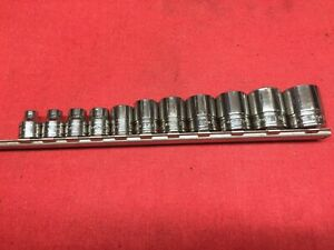 Snap On Tools 11 Piece 3 8 Drive Sae Short Chrome 6 Point Socket Set 1 4 7 8