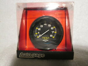 Auto Meter Autogage Pedestal Mount Mini Tach Tachometer 2 3 4 In 8000 Rpm New