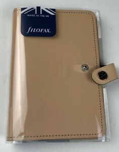 Filofax Nude Patent Leather 6 Ring Personal Size Planner