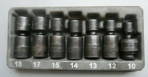 Snap On Tools 7 Piece 3 8 Drive Metric Short Impact Swivel Socket Set 12 Pt