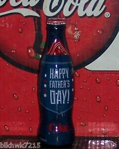 2014 WORLD OF COCA COLA  FATHER'S  DAY WRAPPED 8 OZ COCA COLA BOTTLE