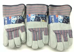 Lot Of 3 Packages Westchester Insulated Leather Cowhide Work Gloves Size Large