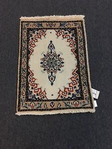 On Sale Fine Hand Knotted Persian Naein Naeen Wool Rug Carpet 1 9 X2 6