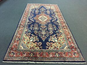 On Sale Semi Antique Hand Knotted Persian Sarouk Rug Gallery Runner Carpet 5x11