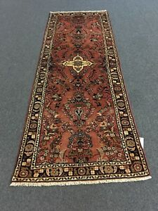 On Sale S Antique Hand Knotted Persian Hamadann Rug Floral Runner Carpet 3 X8 2
